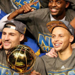 Warriors win their first NBA title in 40 years.