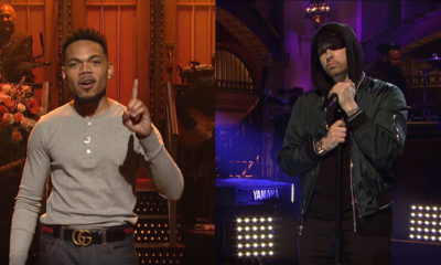 chance the rapper and eminem team up for saturday night live