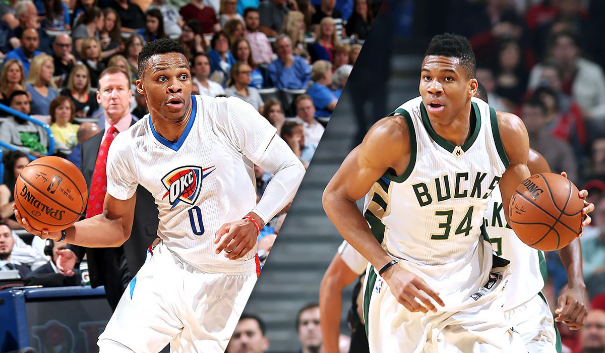 aacdc23e277 Giannis Antetokounmpo and Russell Westbrook will have signature shoes in  2018