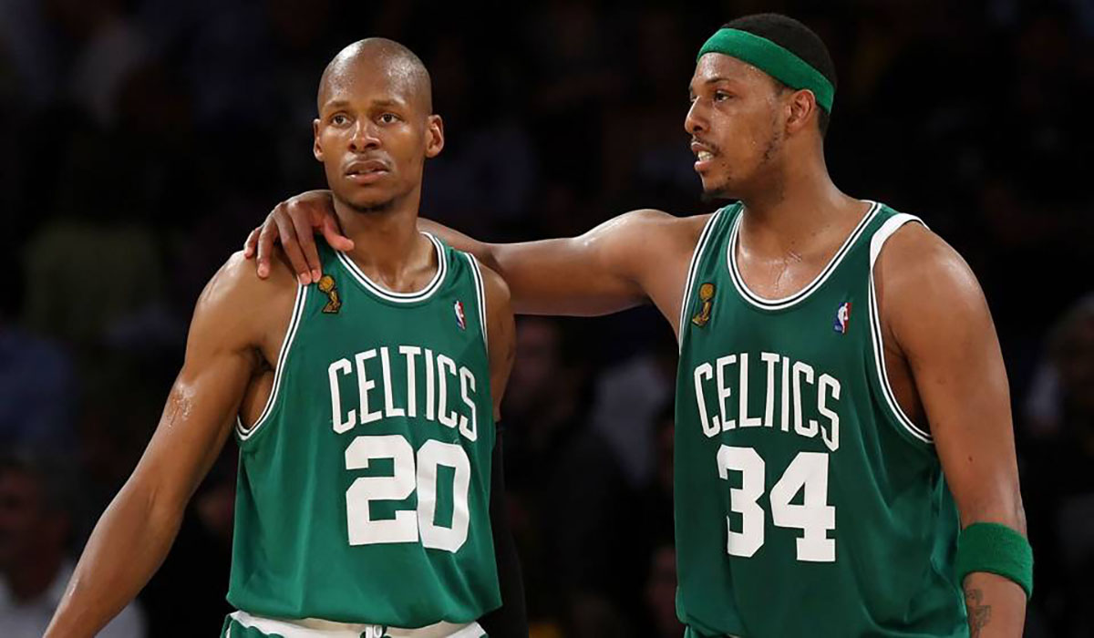 80bd06a2e20 Sports. Ray Allen Wrote A Tribute To Paul Pierce In Honor Of Jersey  Retirement
